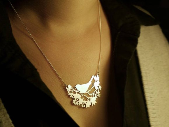 Bird in the Berry Tree necklace from Corky Saint Clair