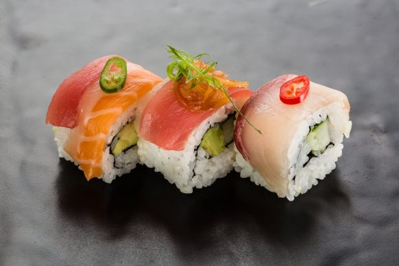 Five sushi trains in the CBD
