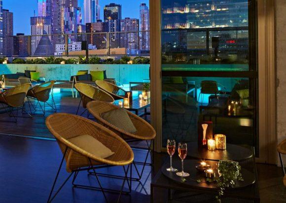 The rooftop bar at QT Melbourne
