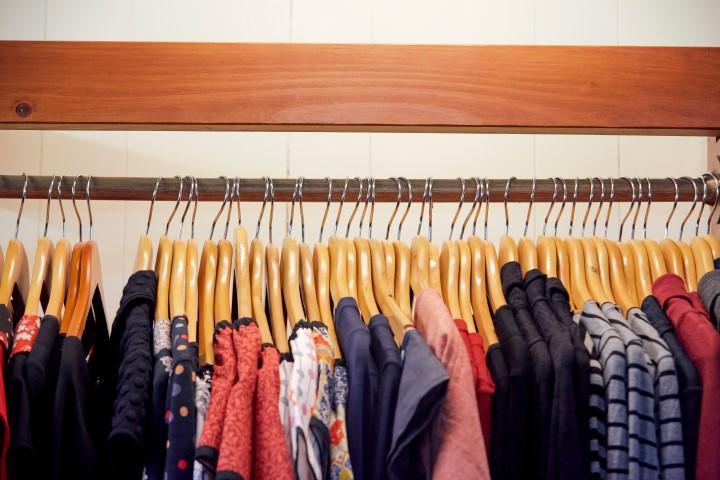A rack full of women's clothing