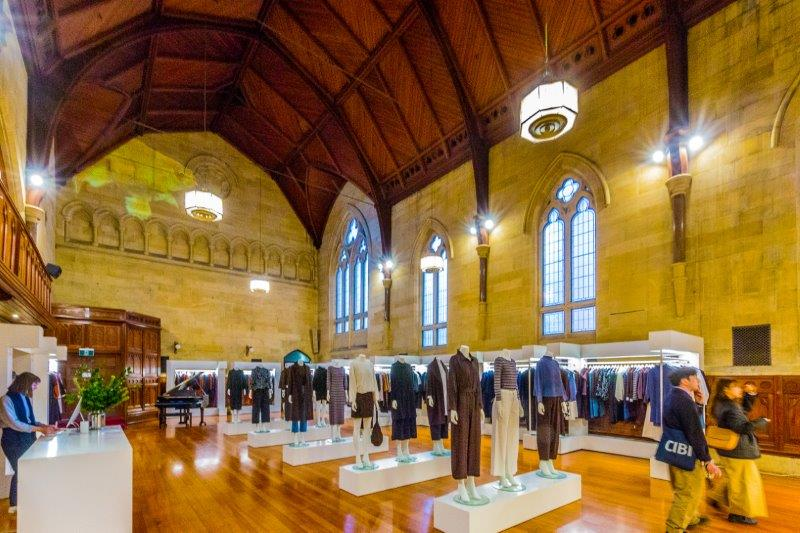 Shop with cathedral windows and domed ceilings