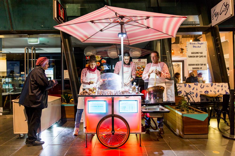 A food stall at a night market