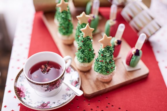 Christmas themed treats from high tea at Langham Melbourne