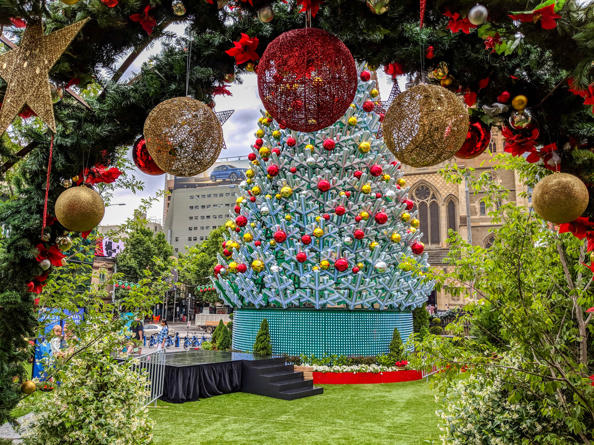 myer melbourne christmas trees