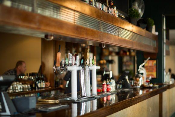 An old fashioned pub bar