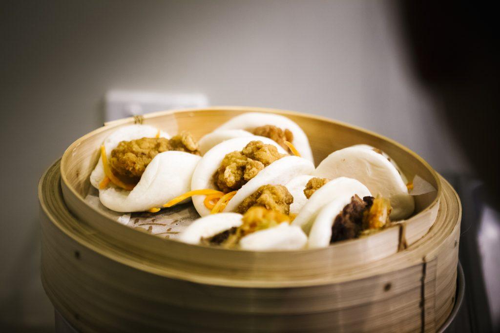 Steamer full of delicious looking bao dumplings