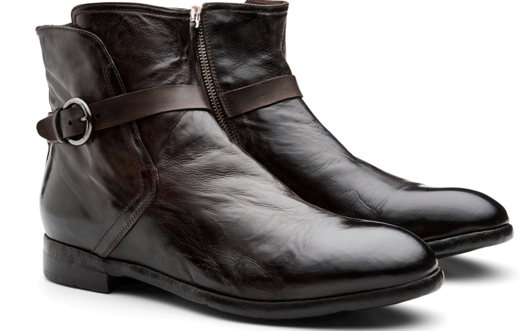 A pair of shiny leather boots