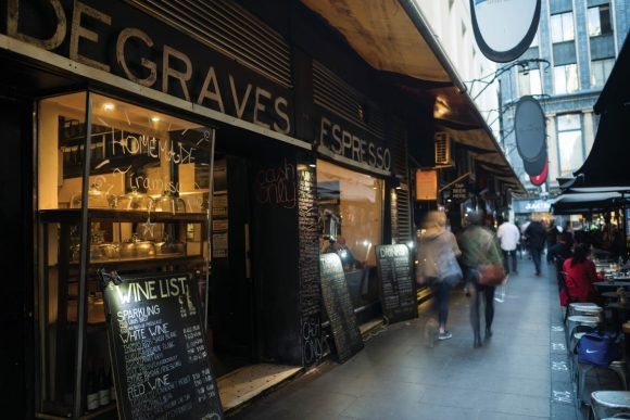 A cafe in a laneway