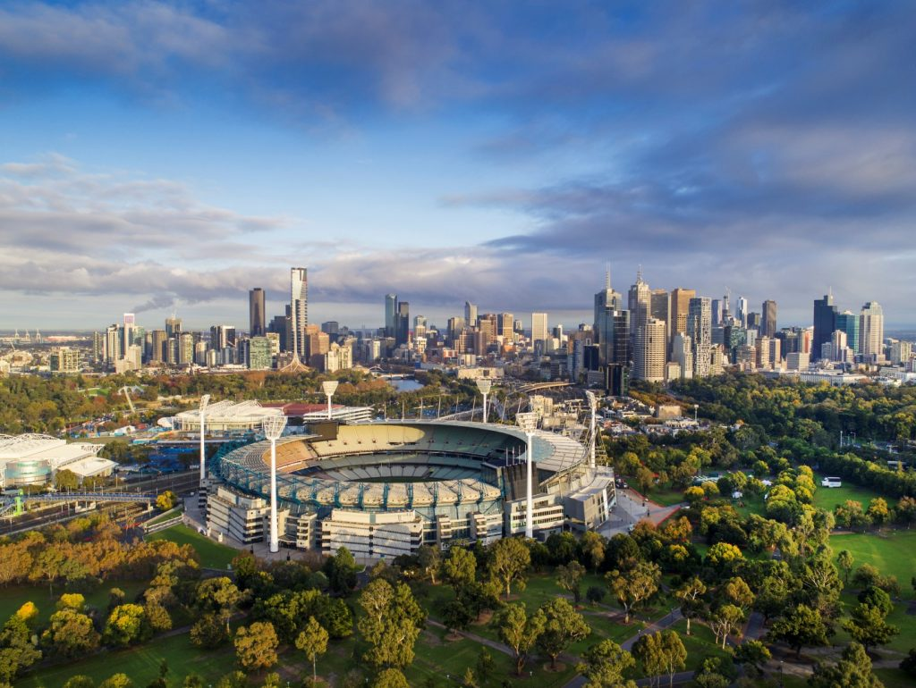 aerial photo of the Melbourne Cricket Ground