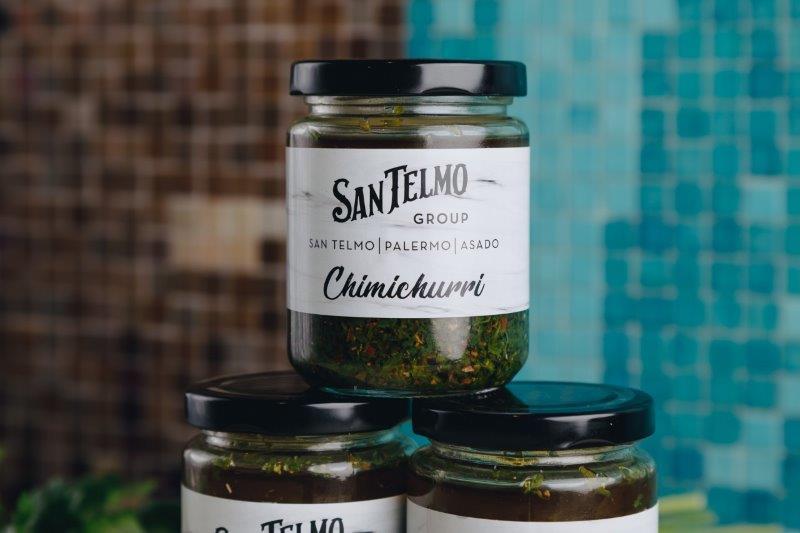 Three jars of San Telmo's Chimichurri