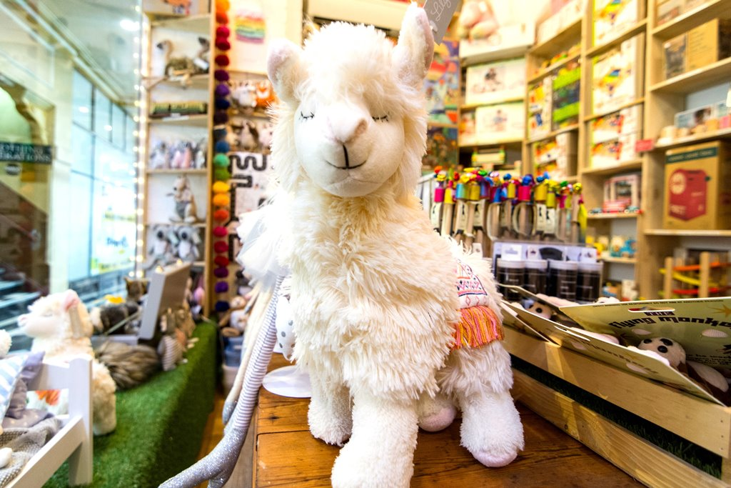 Plush toy in toy shop