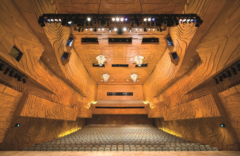 Empty, beautifully-light Elisabeth Murdoch Hall at Melbourne Recital Centre