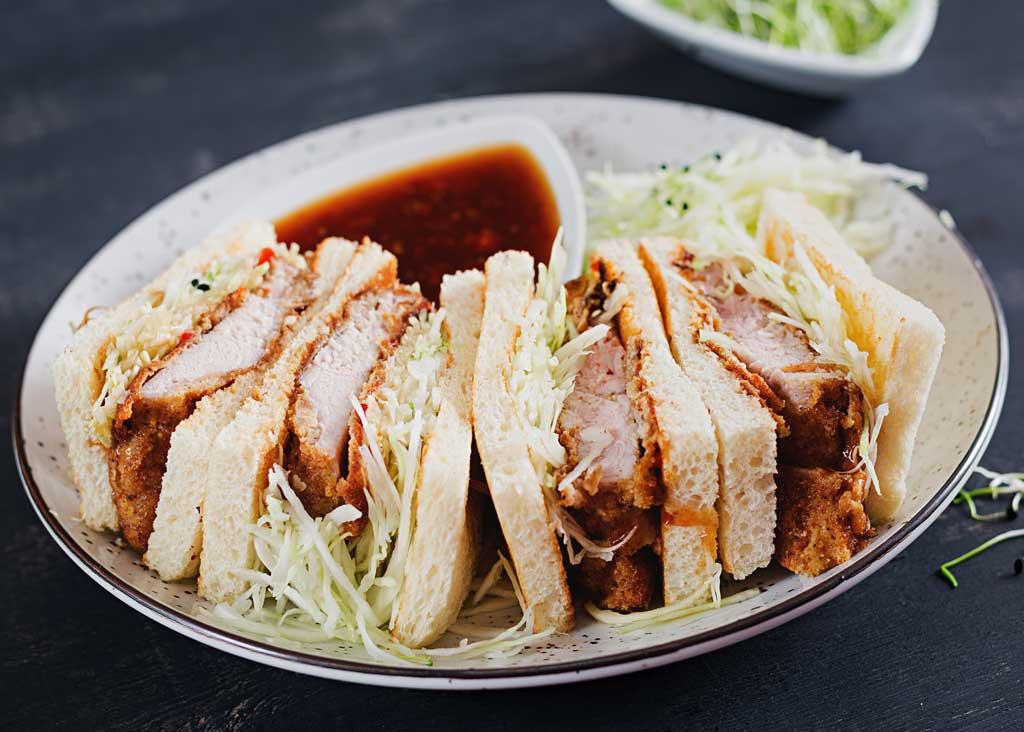 Chicken sandwiches on a plate
