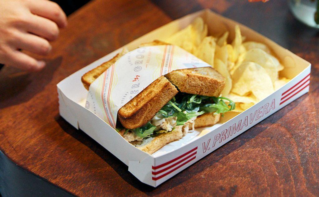 A sandwich in a box