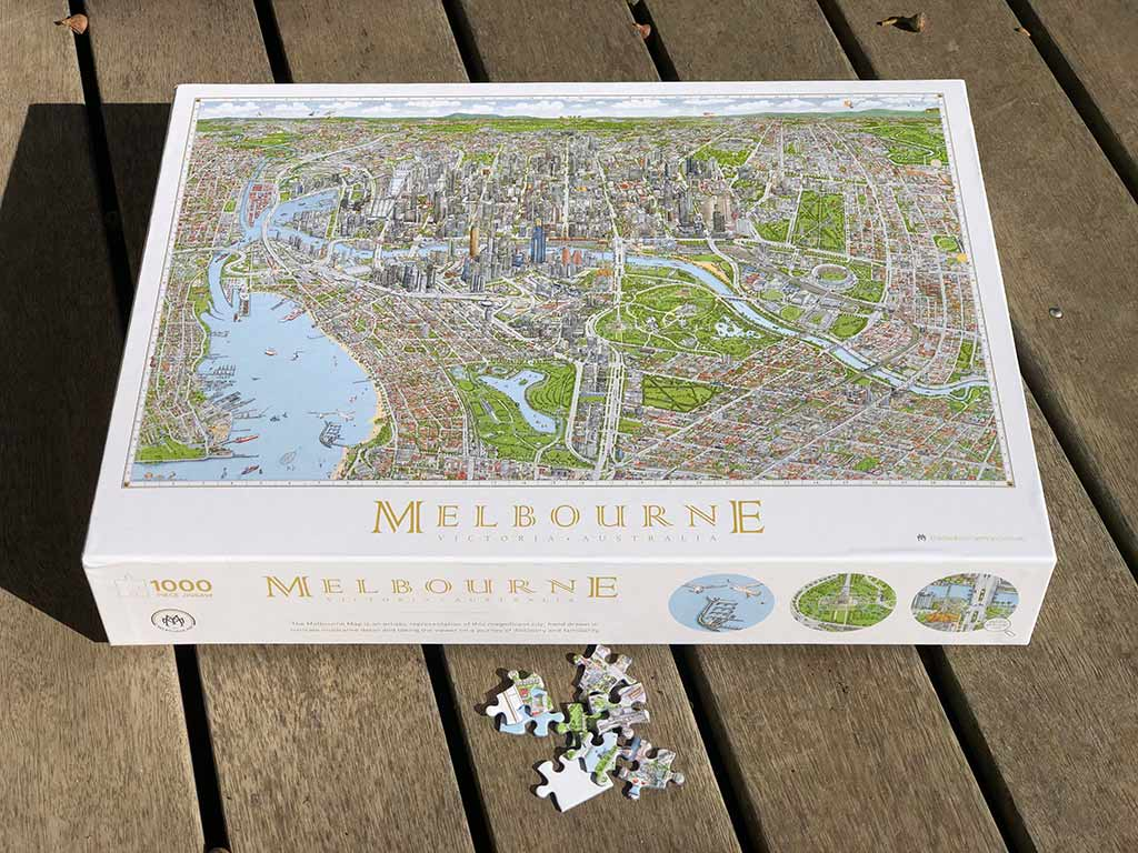 Jigsaw of Melbourne map