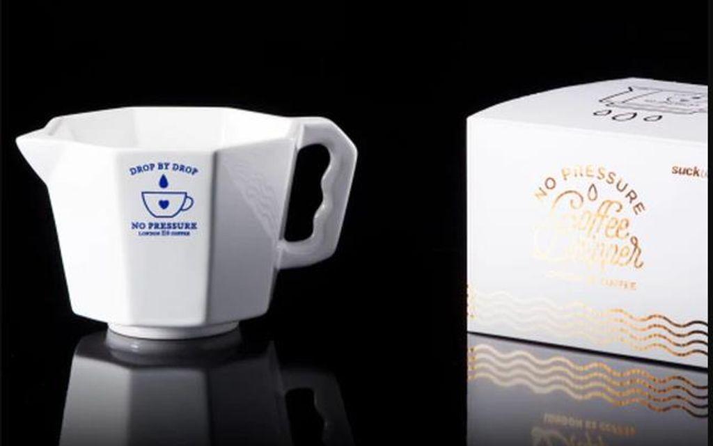 A ceramic coffee cup