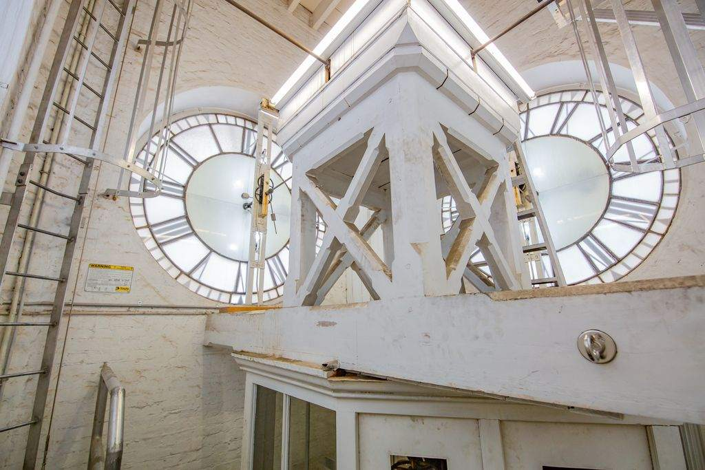 Inside a clocktower